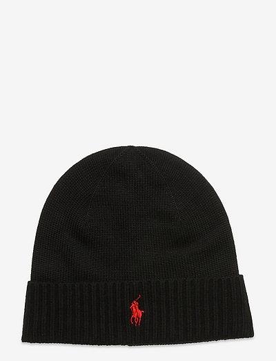 Wool Signature Pony Hat - mutsen - polo black