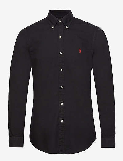 Slim Fit Oxford Shirt - basic-hemden - polo black