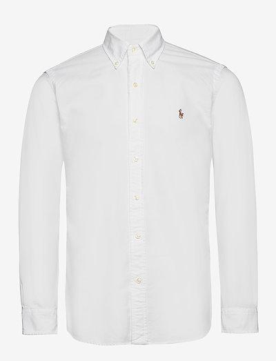 Custom Fit Oxford Shirt - oxford shirts - white