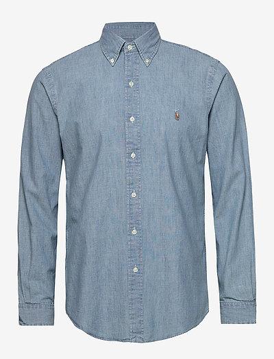 Custom Fit Chambray Shirt - chemises basiques - chambray