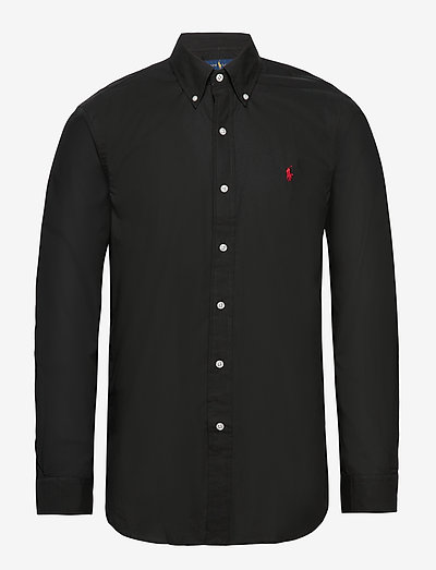 Custom Fit Poplin Shirt - basic shirts - polo black