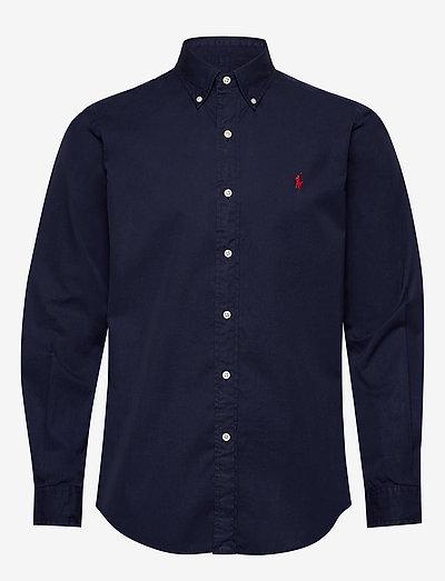 Custom Fit Garment-Dyed Twill Shirt - basic-hemden - cruise navy