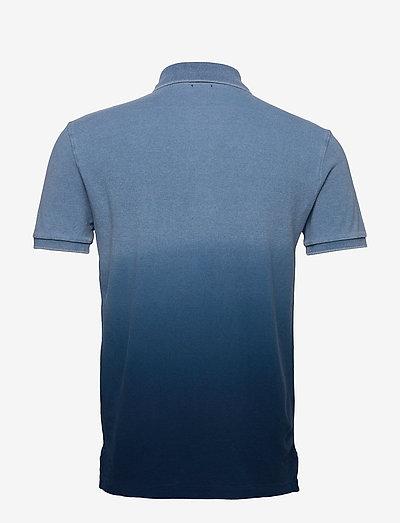 Polo Ralph Lauren Basic Mesh-ssl-knt- Poloshirts Indigo Dip Dye