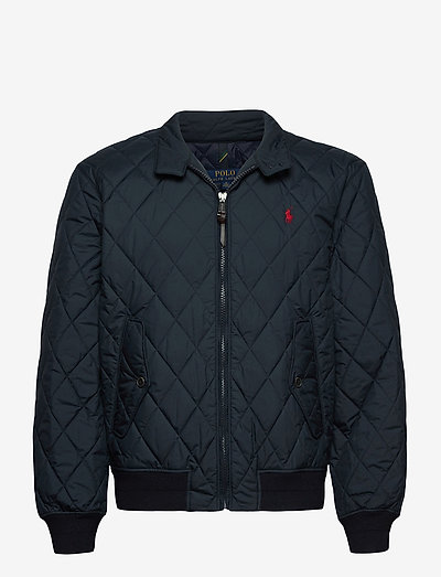 Water-Repellent Quilted Jacket - quilted jackets - college navy