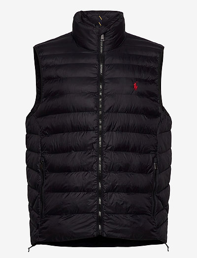 Packable Quilted Vest - vests - polo black