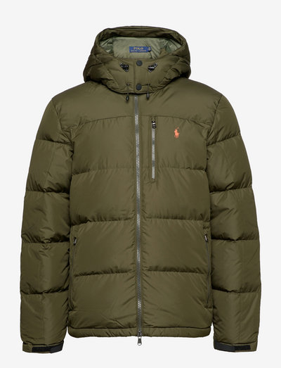 Water-Repellent Down Jacket - padded jackets - company olive