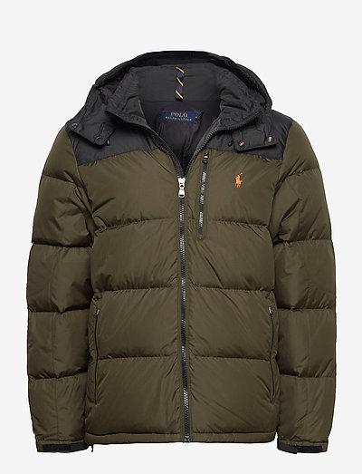 Color-Blocked Down Jacket - kurtki puchowe - company olive/ po