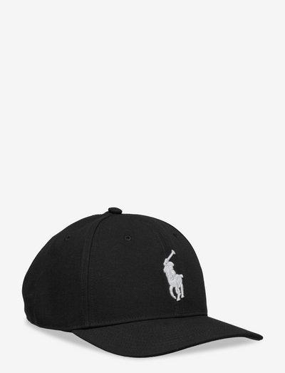 Twill High-Crown Ball Cap - czapki - polo black