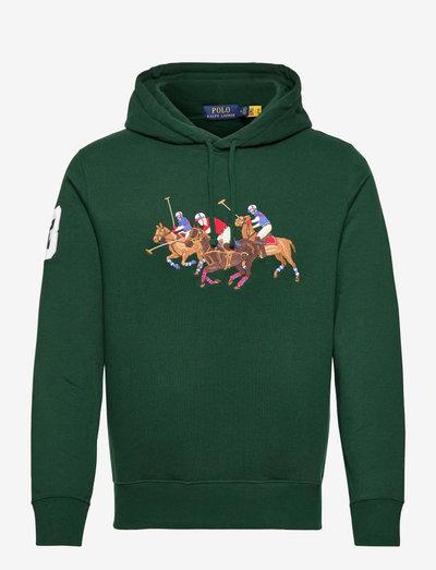 Triple-Pony Fleece Hoodie - hoodies - college green