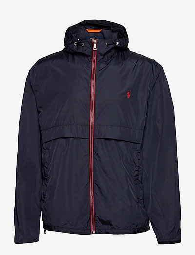 Water-Repellent Hooded Jacket - light jackets - collection navy