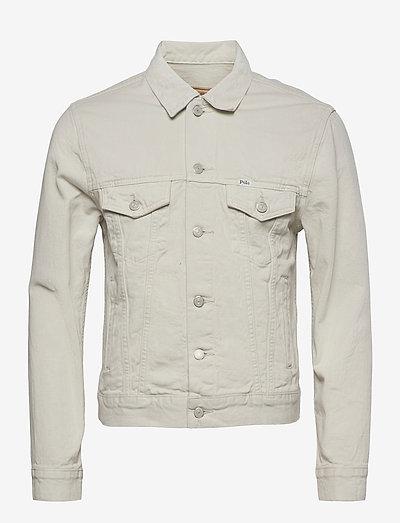 Garment-Dyed Denim Trucker Jacket - light jackets - adamson classic s