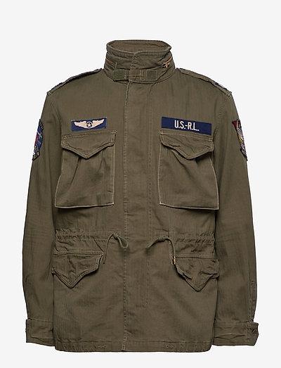 Herringbone Field Jacket - light jackets - soldier olive w/