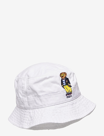 Polo Bear Chino Bucket Hat - bonnets & casquettes - white