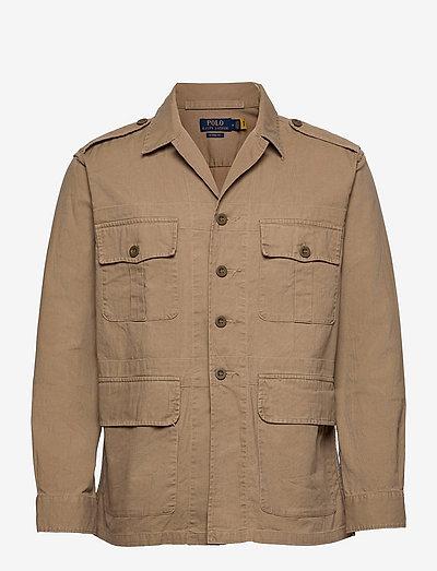 Classic Fit Dobby Utility Shirt - tops - desert khaki