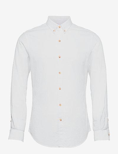 Slim Fit Dobby Shirt - basic shirts - white