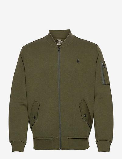 Double-Knit Bomber Jacket - bomber jackets - company olive/c97