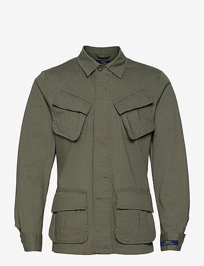 Stretch Ripstop Utility Suit Jacket - light jackets - olive