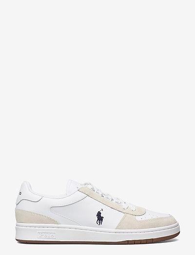 Court Leather-Suede Sneaker - låga sneakers - white/newport nav