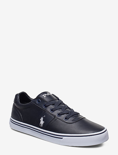 Hanford Leather Sneaker - lave sneakers - newport navy