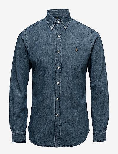 Slim Fit Denim Shirt - chemises en jean - dark wash