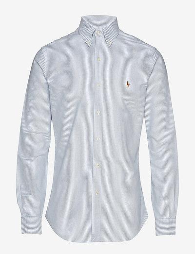 Slim Fit Oxford Shirt - chemises oxford use default - bsr blu/wht