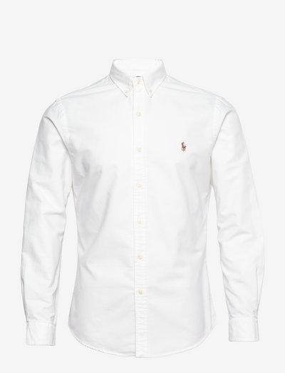 Slim Fit Oxford Shirt - basic shirts - white