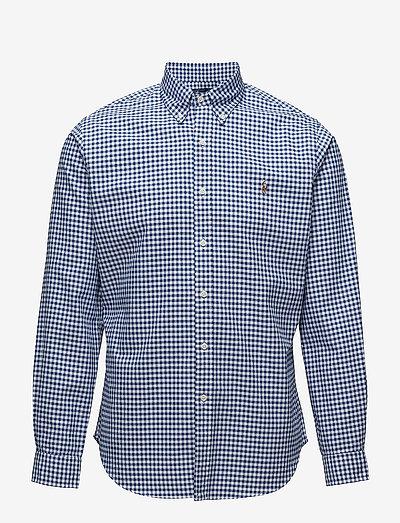 Slim Fit Cotton Oxford Shirt - oxford shirts - blue/white ging