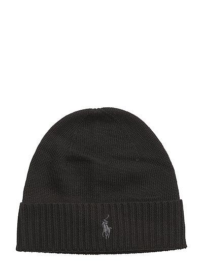 MERINO WOOL-HAT - POLO BLACK