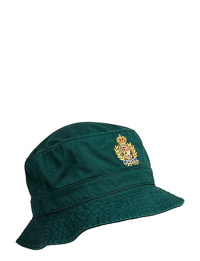 87bdcab290db4 Crest Cotton Twill Bucket Hat (College Green) (49 €) - Polo Ralph Lauren -  | Boozt.com