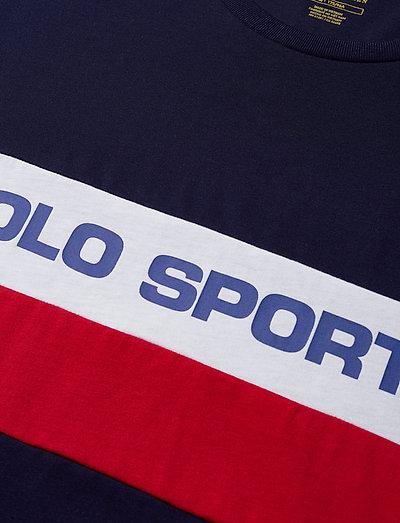 Polo Ralph Lauren Sscnm1-long Sleeve-t-shirt- T-paidat Cruise Navy Multi
