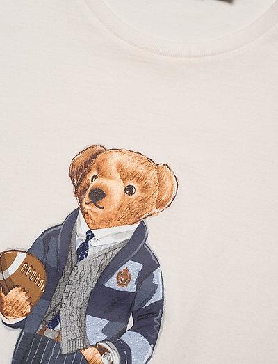 Custom Slim Fit Bear T shirt (Deckwash White) (479.20 kr