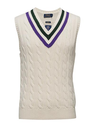 Wimbledon Pima Cotton Vest - CRICKET CREAM
