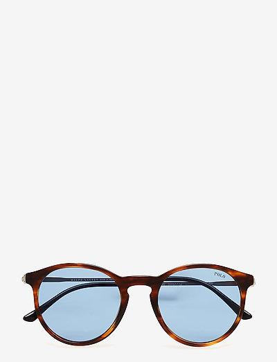 CLASSIC FLAIR | POLO CLASSIC - round frame - stripped havana-azure