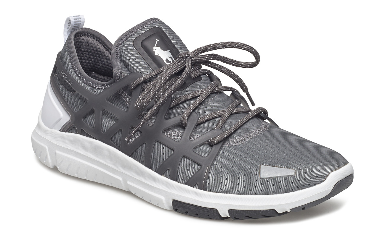 Polo Sport PERF MESH-TRAIN200-SK-ATH - CHARCOAL GREY/WHI