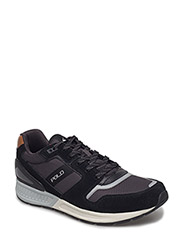 Train 100 Suede-Mesh Sneaker - BLACK/CHARCOAL