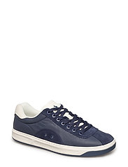LEATHER/SUEDE-COURT100-SK-ATH - NEWPORT NAVY