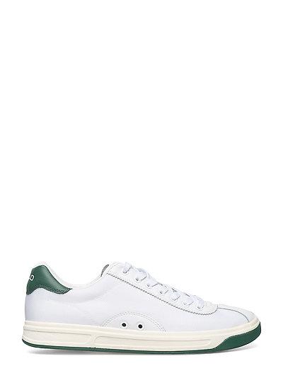 Polo Sport Court 100 Leather mesh Sneaker Whitenewport Nav