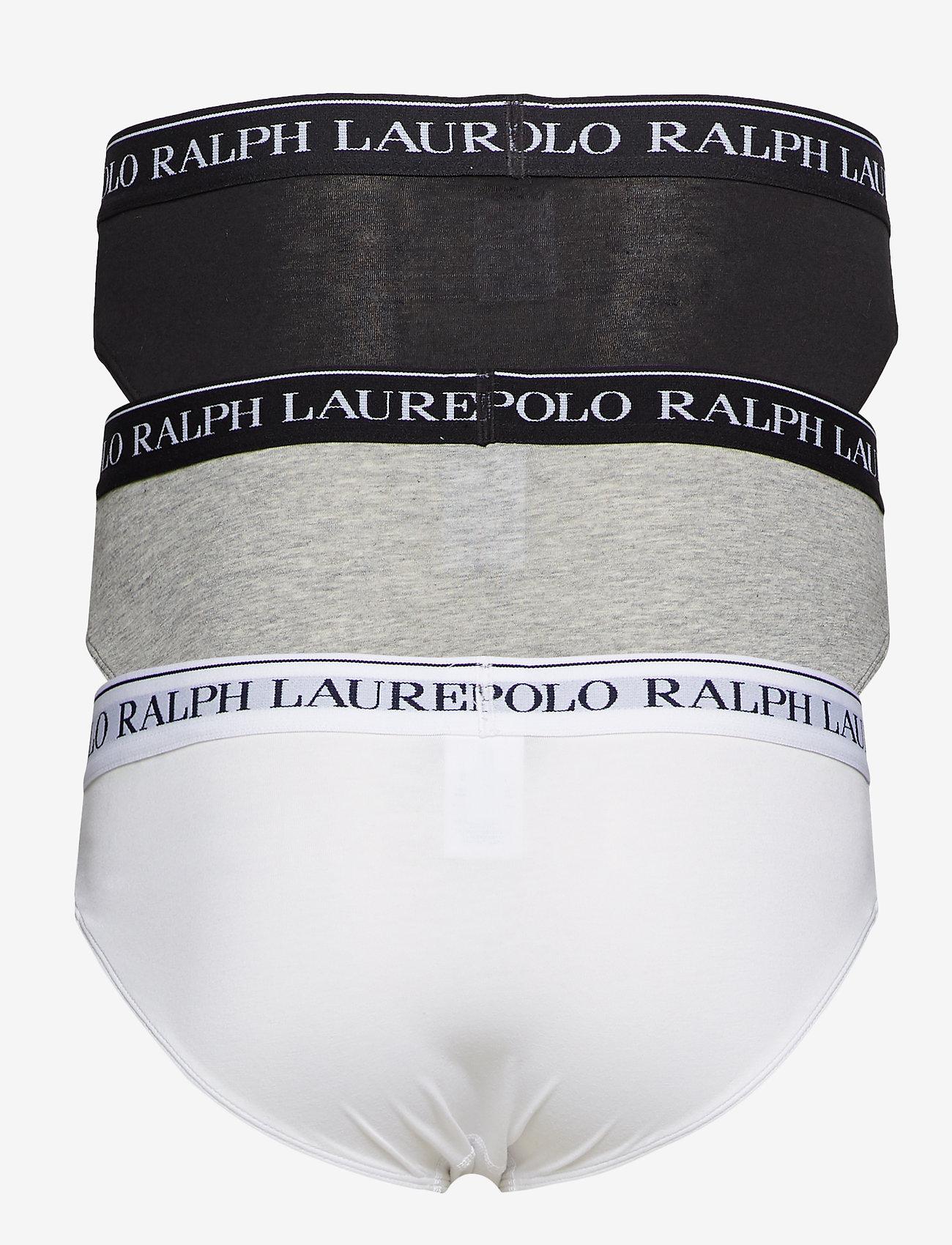 Polo Ralph Lauren Underwear - 3 PACK LOW RISE BRIEFS - slips - white/heather/b - 1