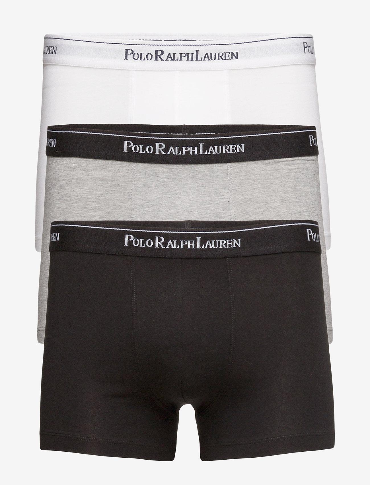 Polo Ralph Lauren Underwear - Stretch-Cotton-Trunk 3-Pack - bokseršorti - white/heather/b - 0
