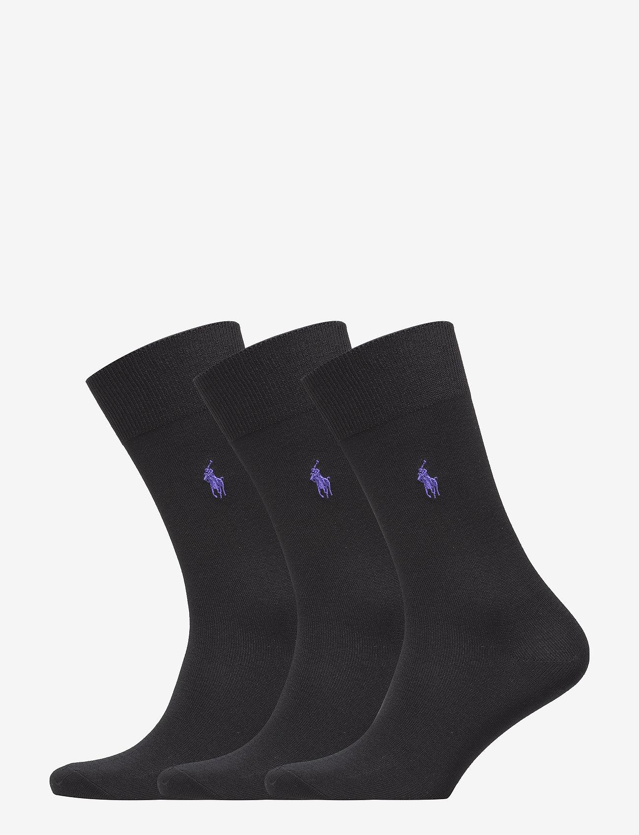 Polo Ralph Lauren Underwear - Cotton-Blend Sock 3-Pack - regular socks - black - 0