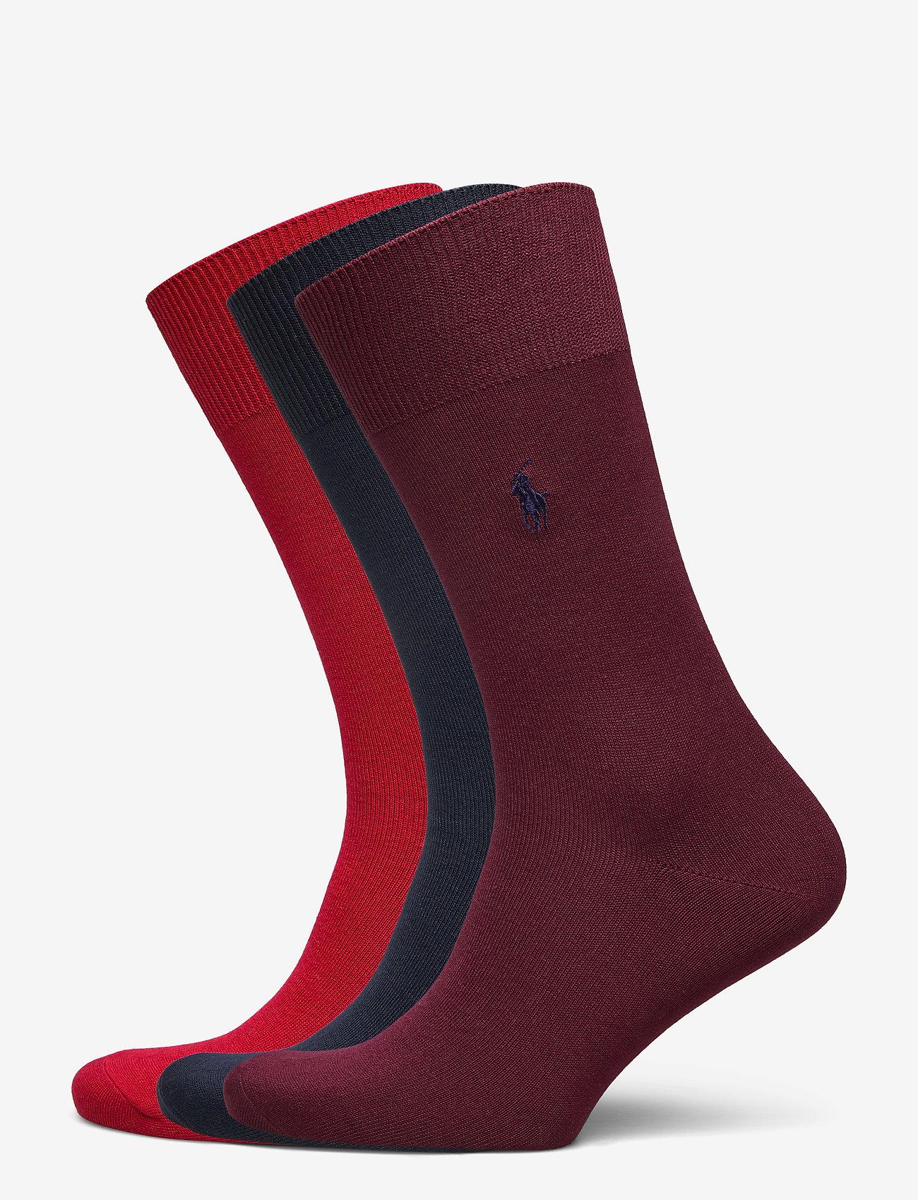Polo Ralph Lauren Underwear - Cotton-Blend Sock 3-Pack - regular socks - rd/nvy/red - 0