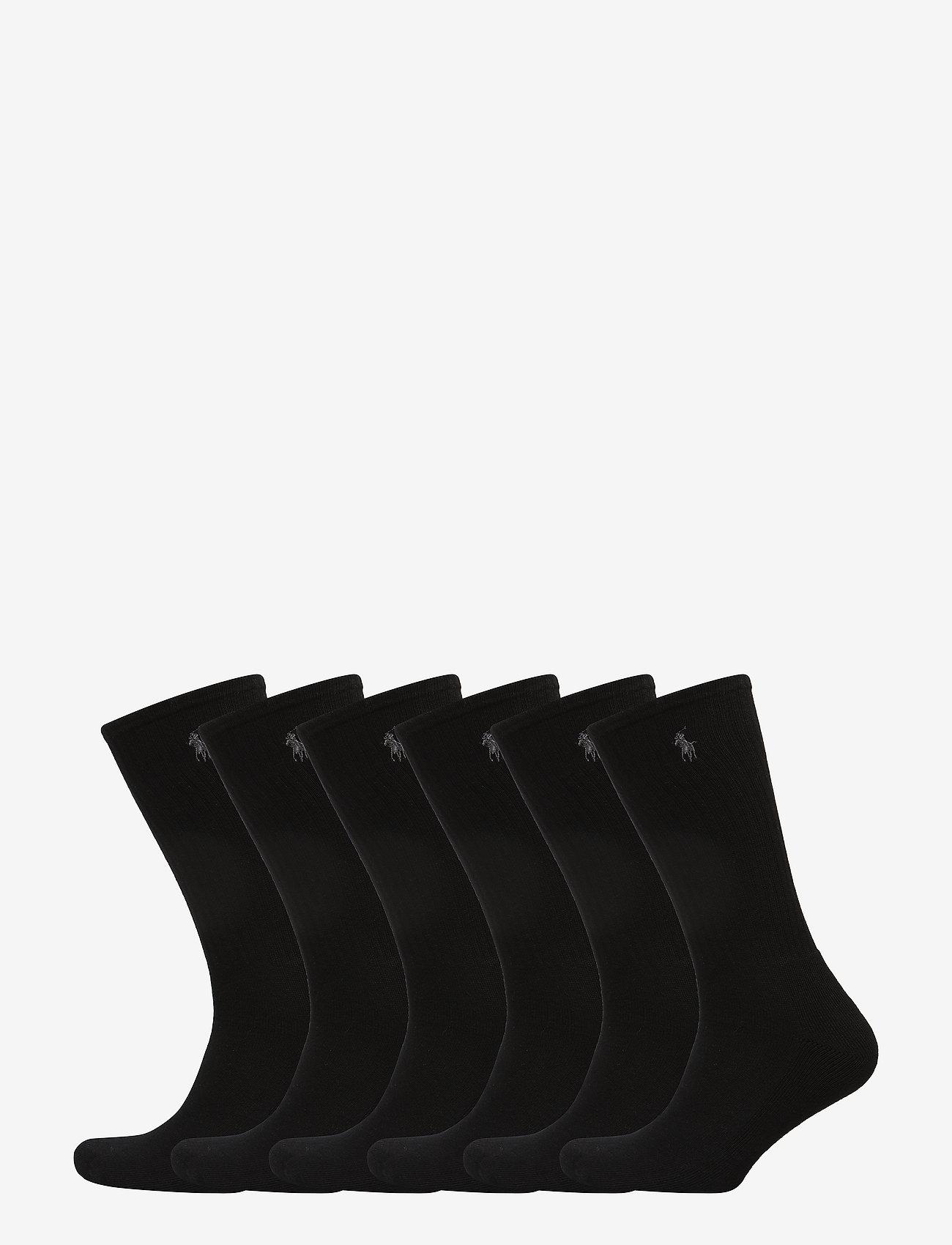 Polo Ralph Lauren Underwear - Cotton-Blend Crew Sock 6-Pack - regular socks - black - 0