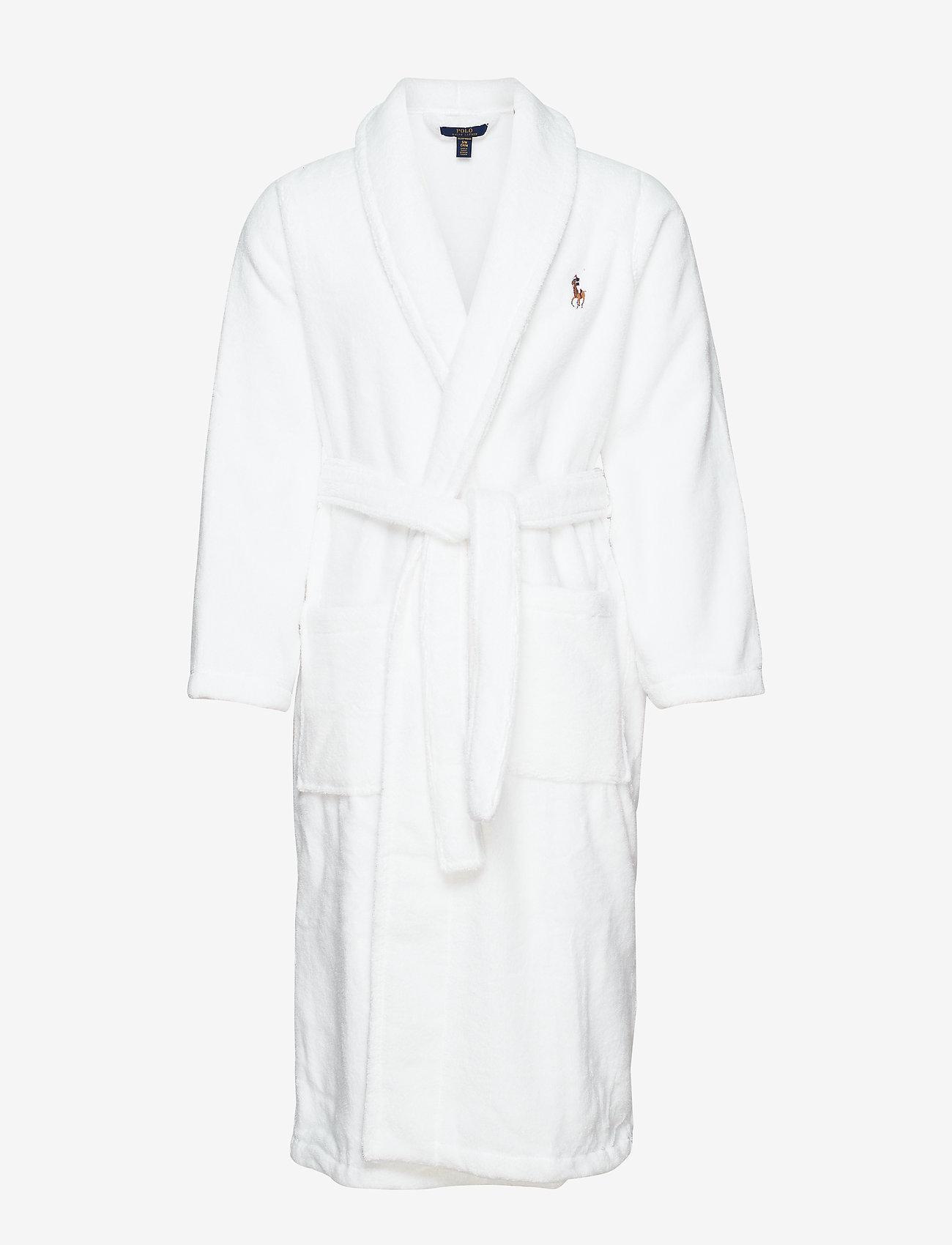 Polo Ralph Lauren Underwear - Cotton Terry Shawl Robe - badjassen - white multi pp - 0