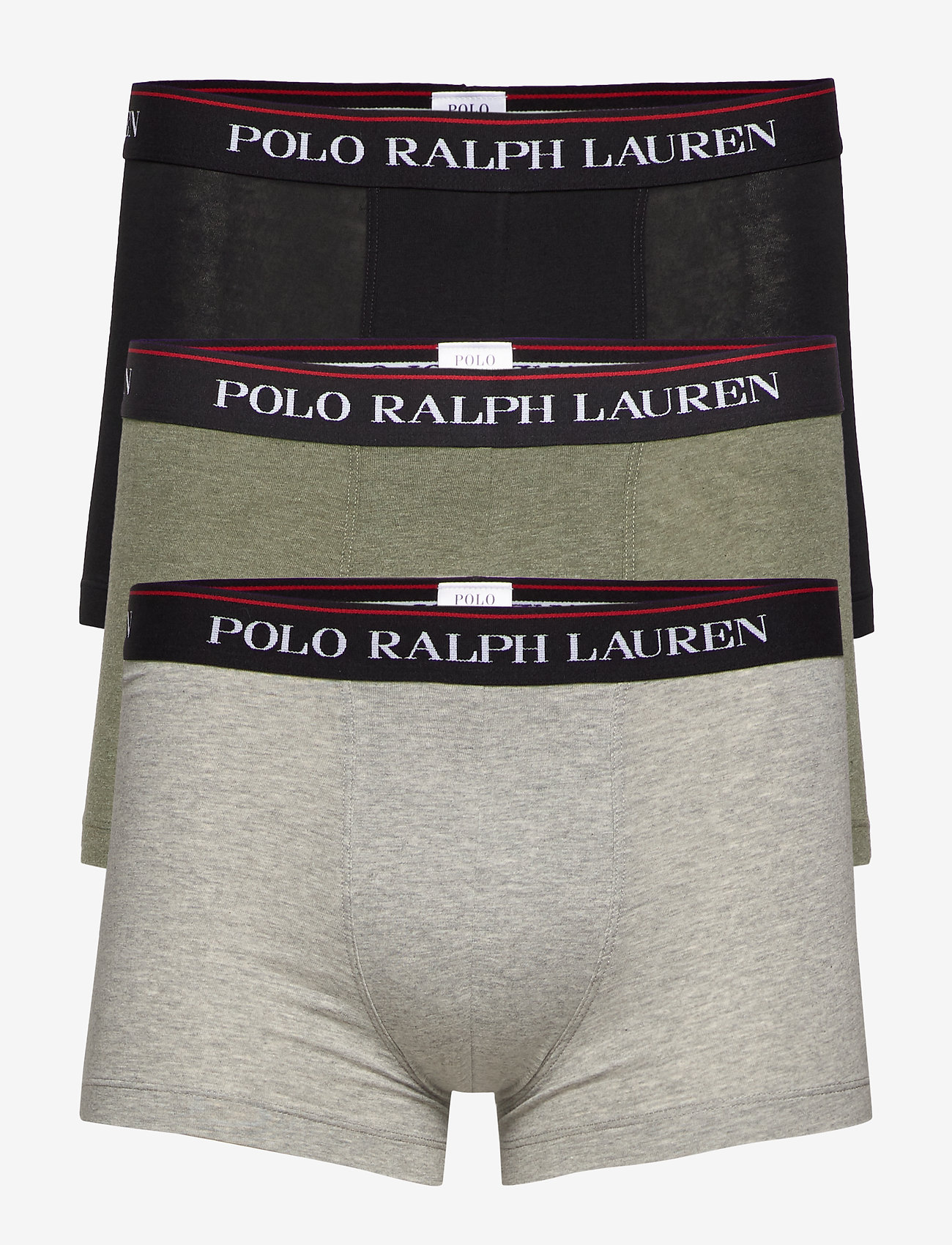 Polo Ralph Lauren Underwear - Stretch-Cotton Trunk 3-Pack - boxers - 3pk blk/and hthr/ - 0