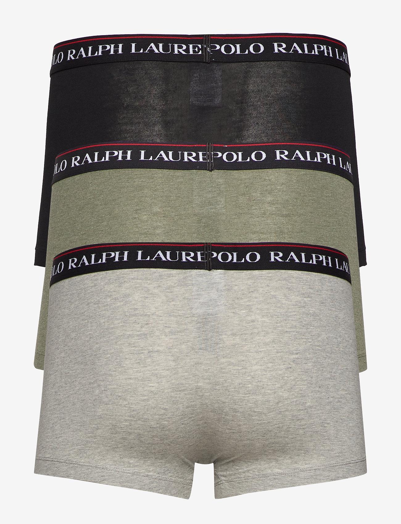 Polo Ralph Lauren Underwear - Stretch-Cotton Trunk 3-Pack - boxers - 3pk blk/and hthr/ - 1