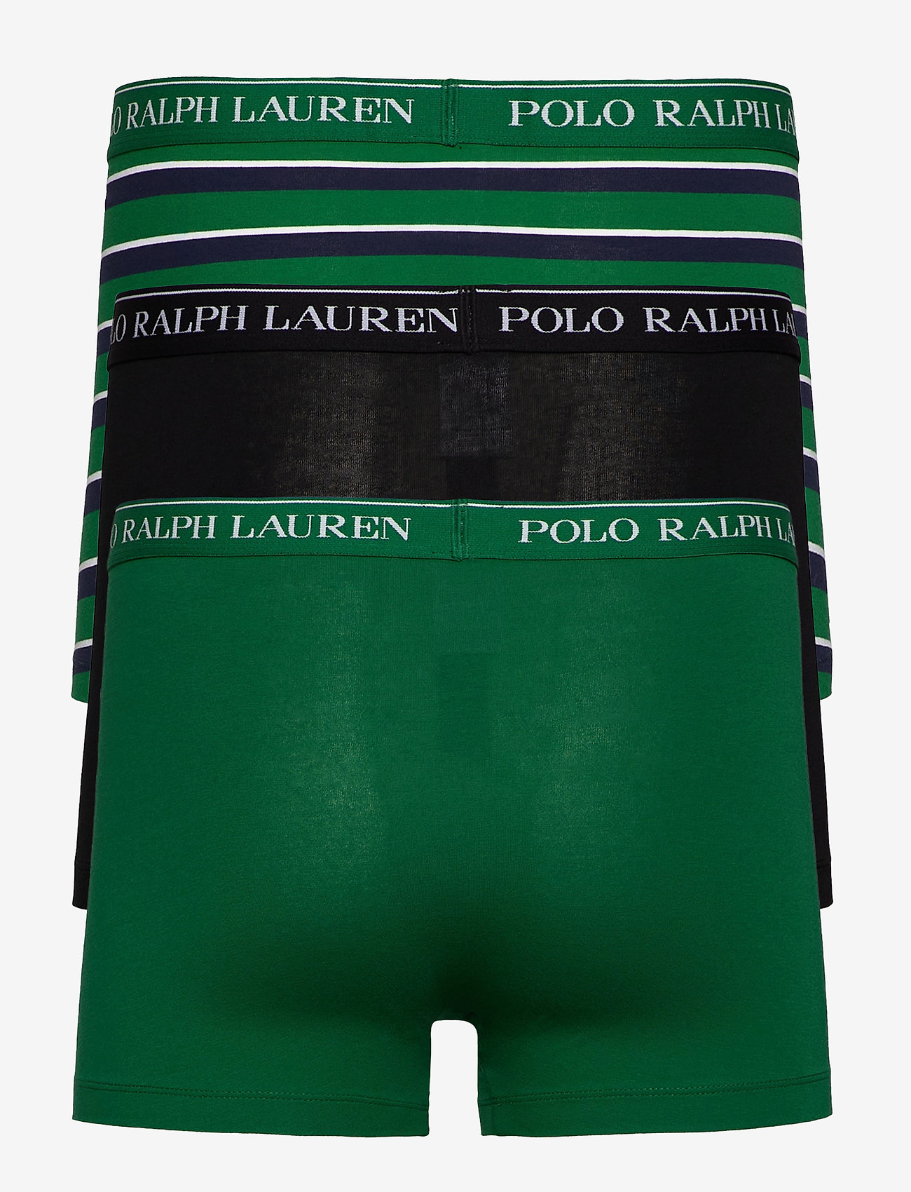 Polo Ralph Lauren Underwear - Stretch-Cotton Trunk 3-Pack - boxers - 3pk blk/grn strp/ - 1