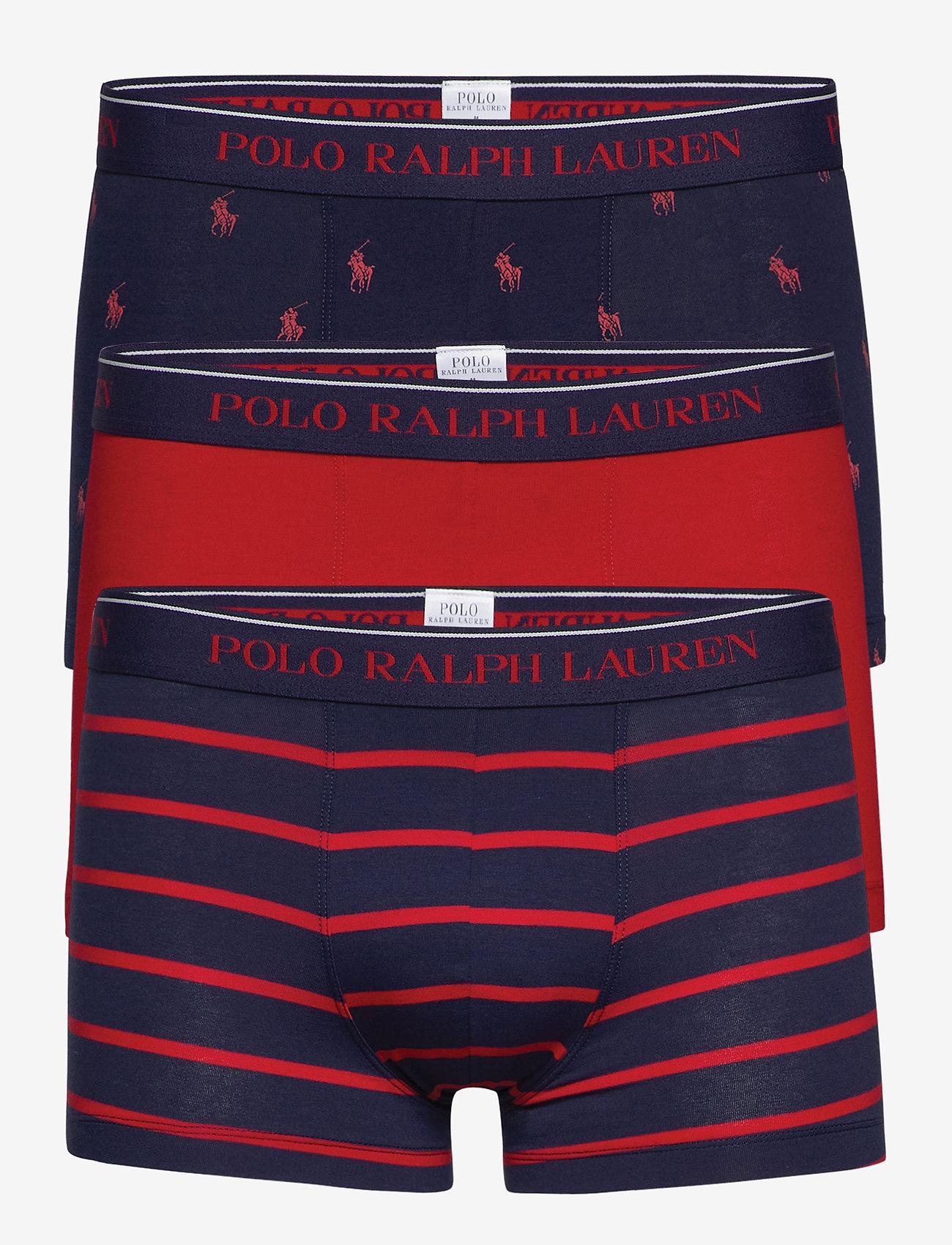 Polo Ralph Lauren Underwear - Stretch-Cotton Trunk 3-Pack - boxershorts - 3pk nvy aopp/nvy - 0