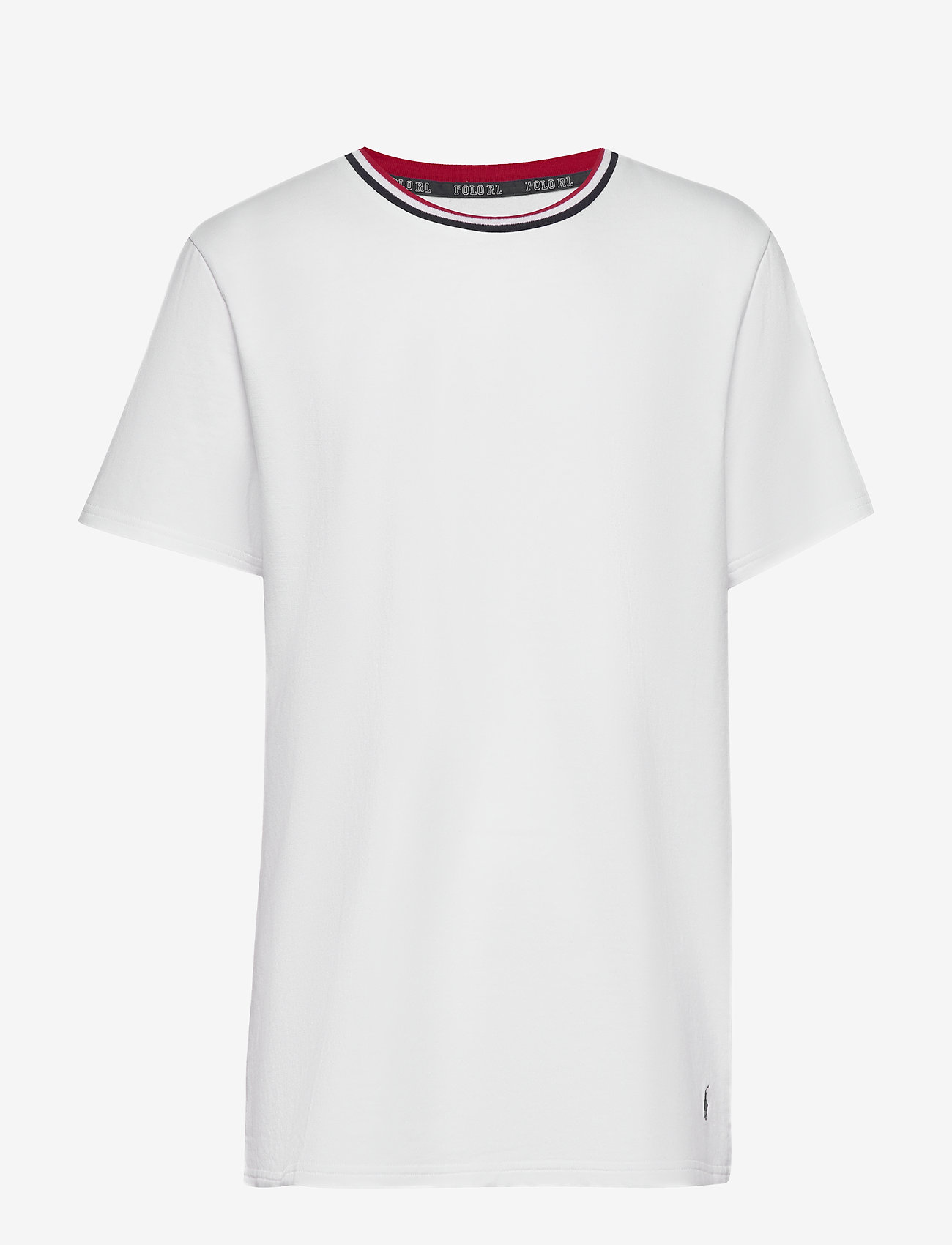 Polo Ralph Lauren Underwear - LOOP BACK JERSEY-CRW-STP - basic t-shirts - white - 0