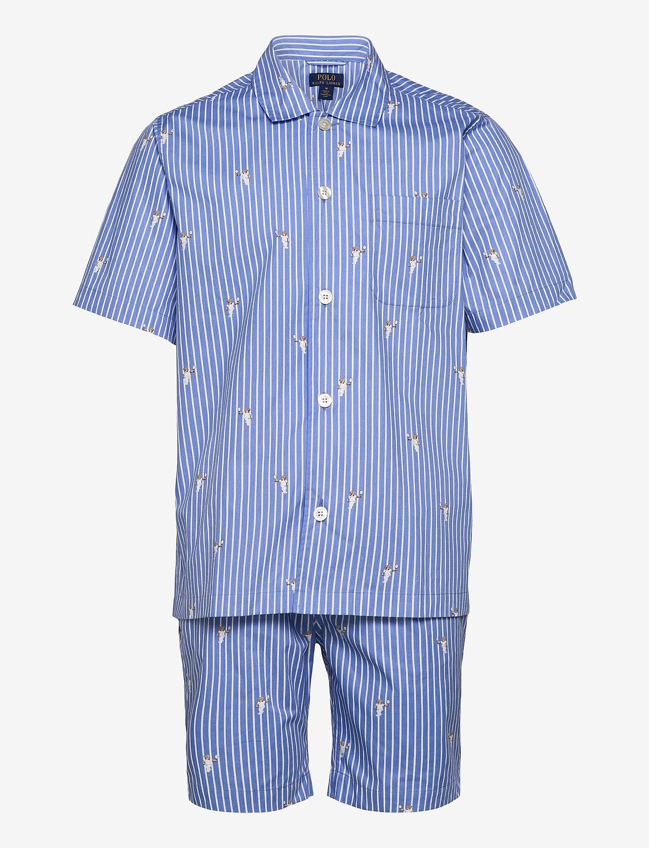 Polo Ralph Lauren Underwear - Polo Bear Striped Cotton Pajama Set - pyjamas - tennis bear strip - 0