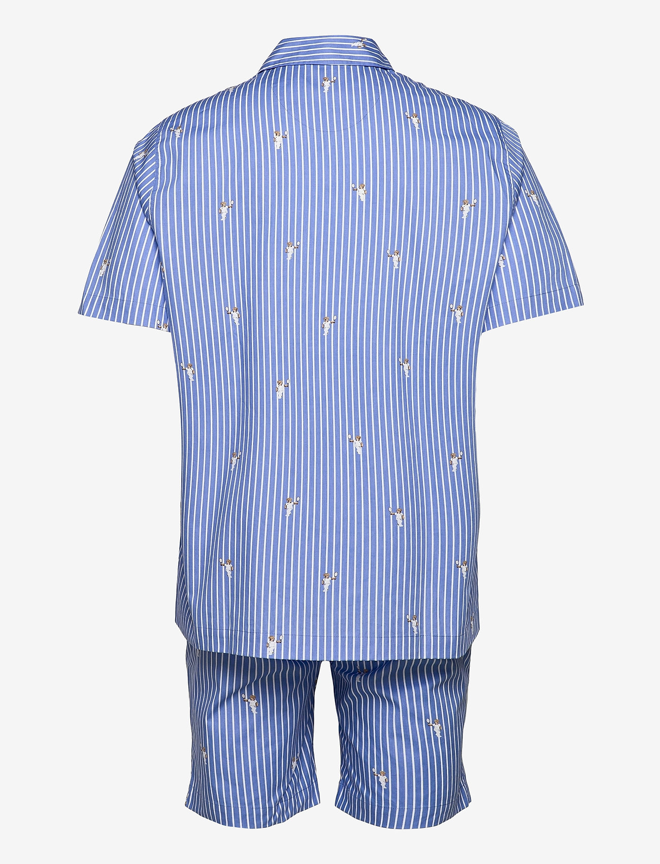 Polo Ralph Lauren Underwear - Polo Bear Striped Cotton Pajama Set - pyjamas - tennis bear strip - 1